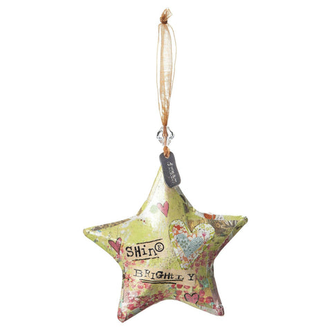 Shine Brightly Star Ornament - Gledesgaver