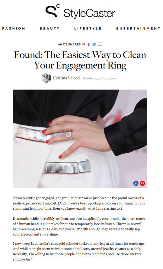 Bling Brush | Easy Way to Clean Engagement Ring | StyleCaster