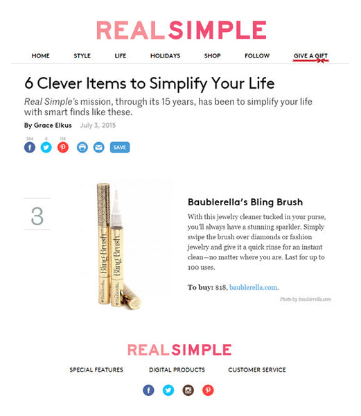 Bling Brush Jewelry Cleaner in Real Simple