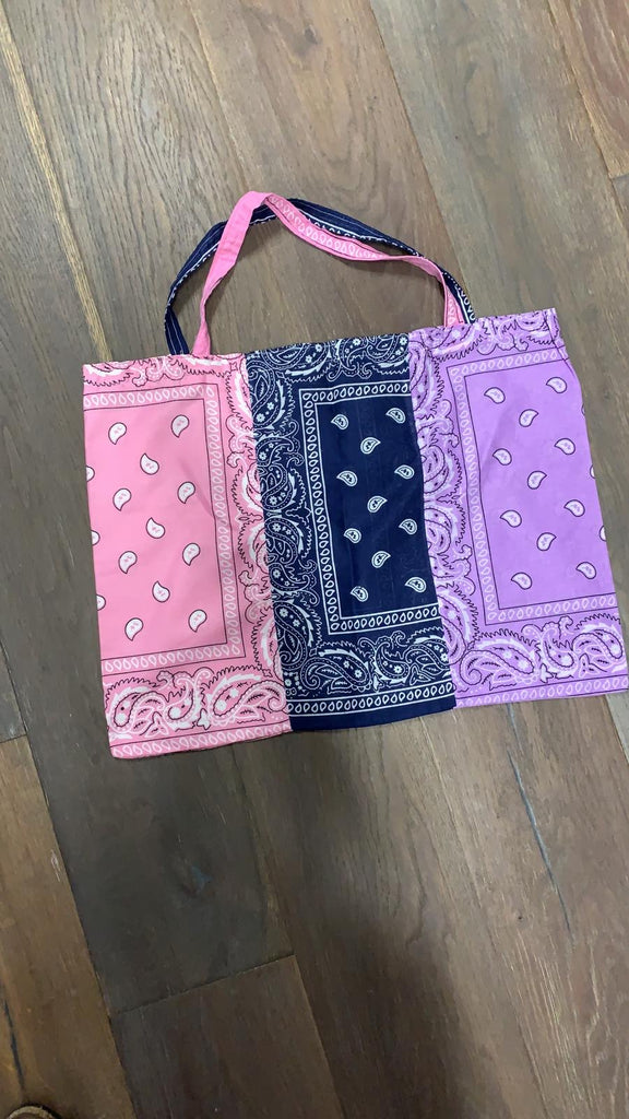 Cloclosmarket Bandana Block Tote