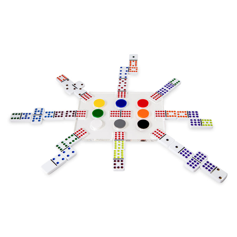 """EL TREN"" Luxe Dominoes Acrylic Train Domino Set (Various Colors)"