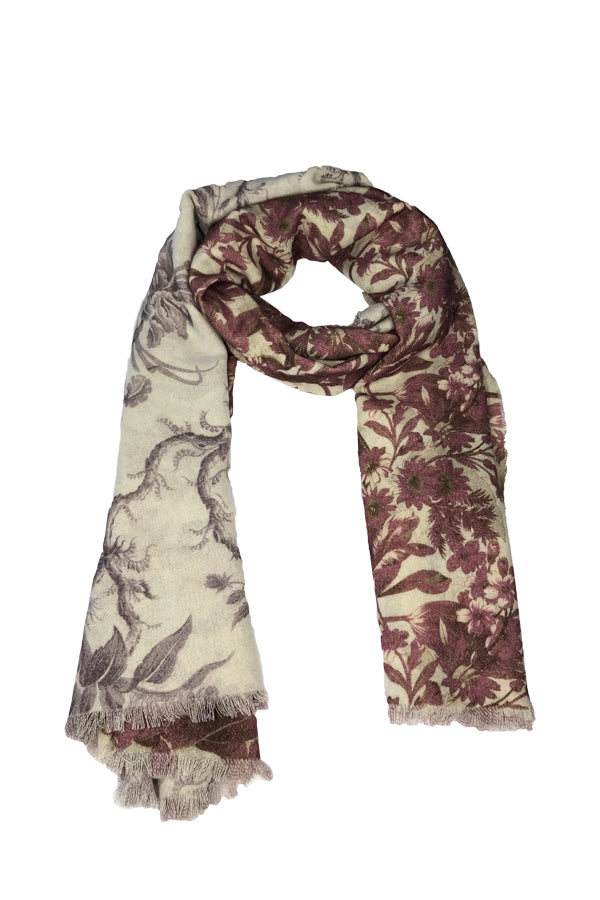 Cashmere Rose Floral Scarf