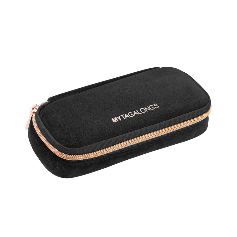 Black Velour Pill Organizer Case