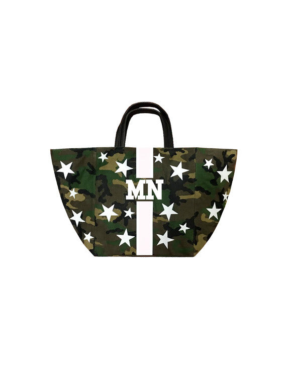 Camouflage Large Tote w/ Stars