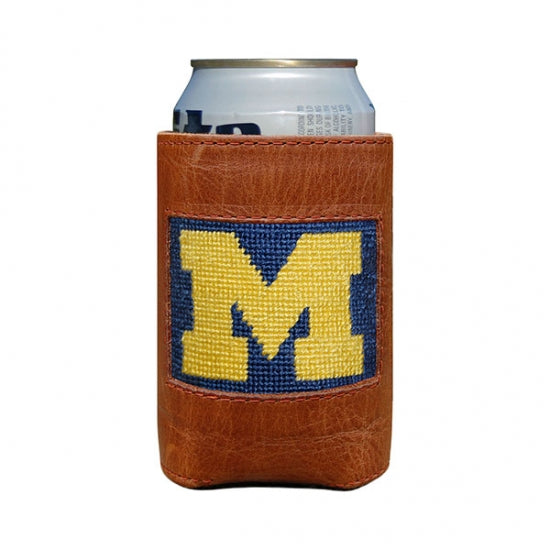 Michigan Needlepoint Can Cooler