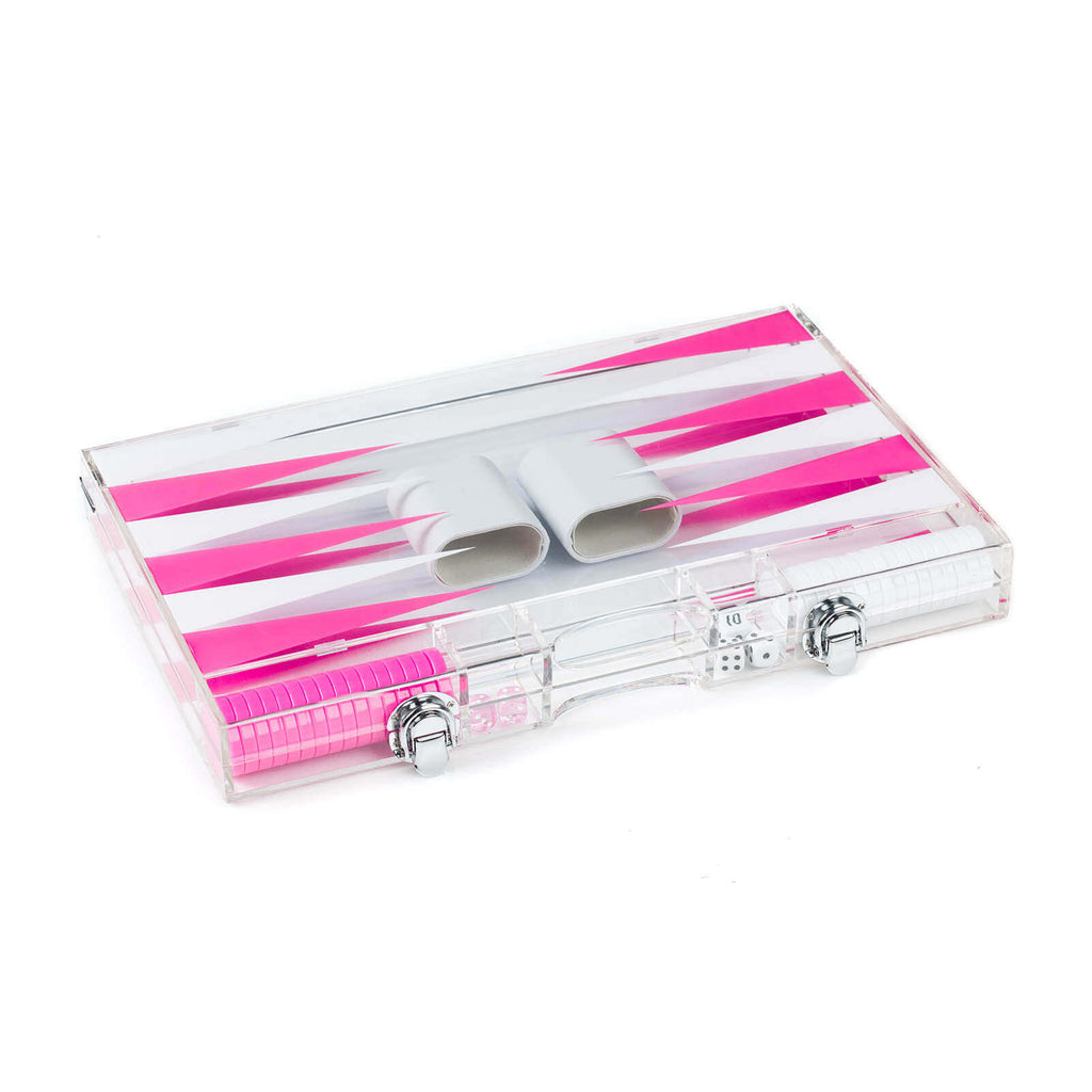 "16"" Acrylic Backgammon Set (Various Colors)"