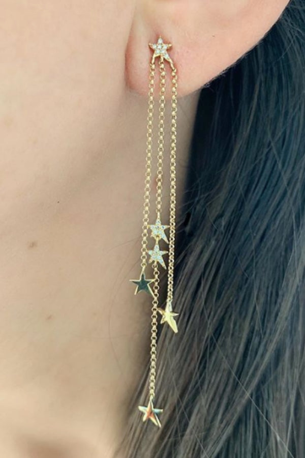 Stars Chain Dangle Earrings