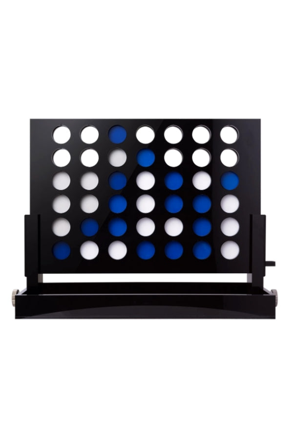Acrylic Connect Four Set Black/Blue