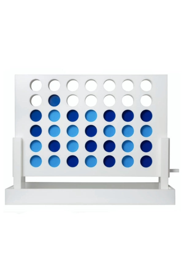 Acrylic Connect Four Set White/Blue