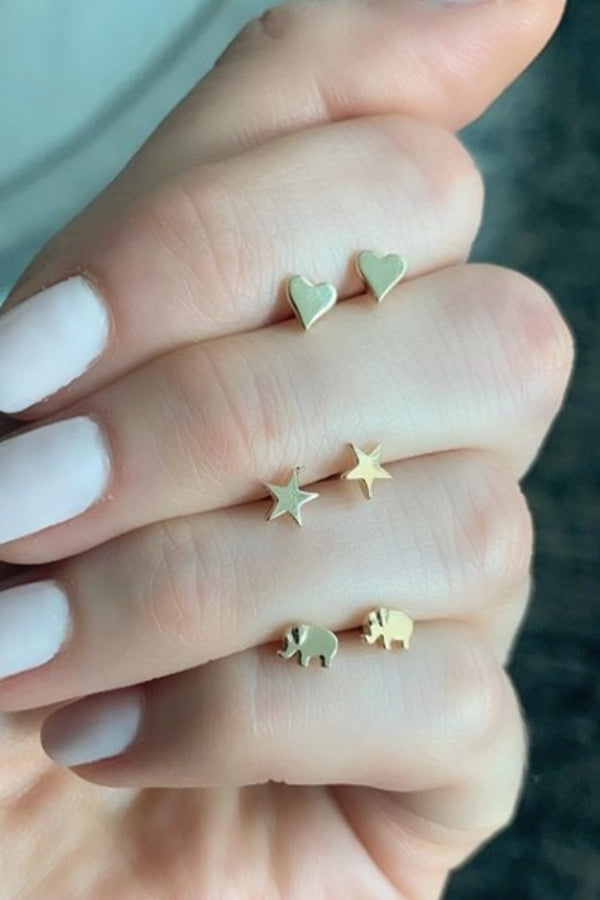 Gold Mini Stud Earrings