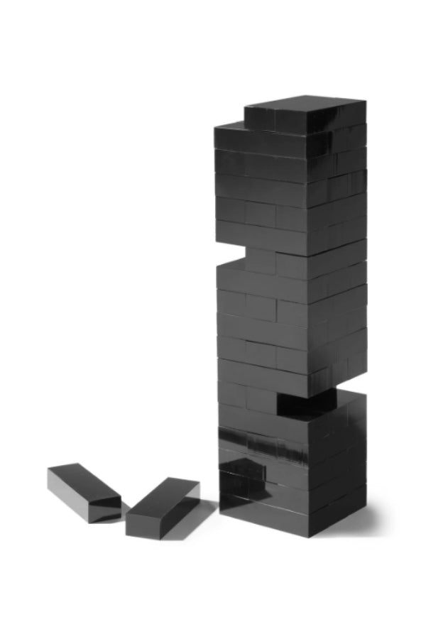Acrylic Jenga Set Black