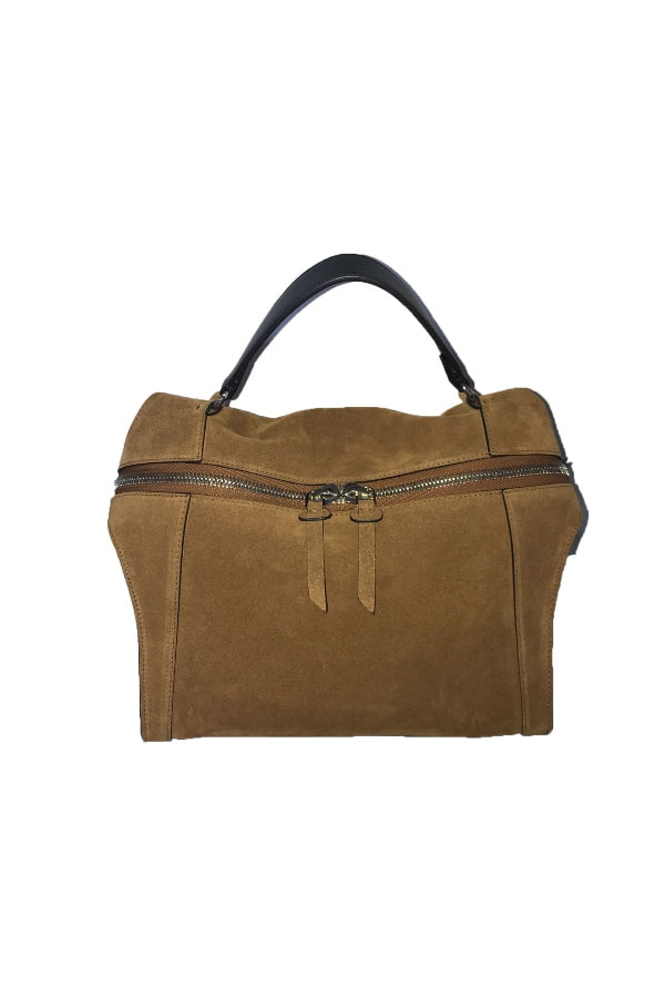 Small Saddle Suede Satchel