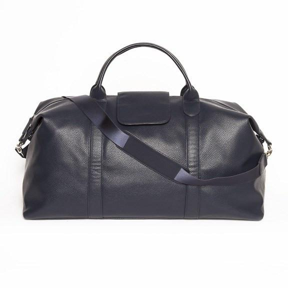 Brouk&Co Navy Leather Duffle Bag