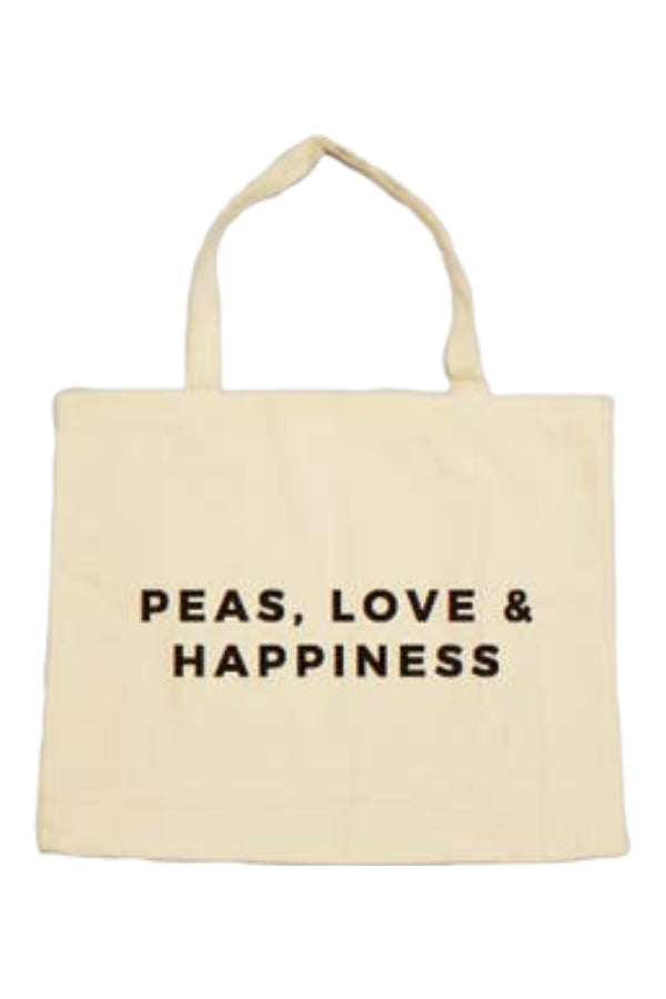 Peas Love and Happiness Tote