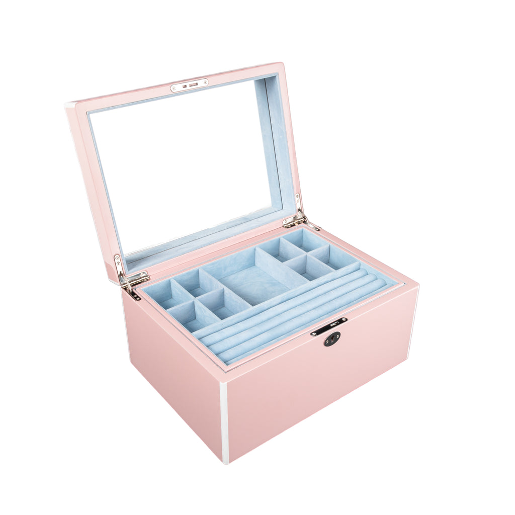 Stackable High Gloss Jewelry Box Pink