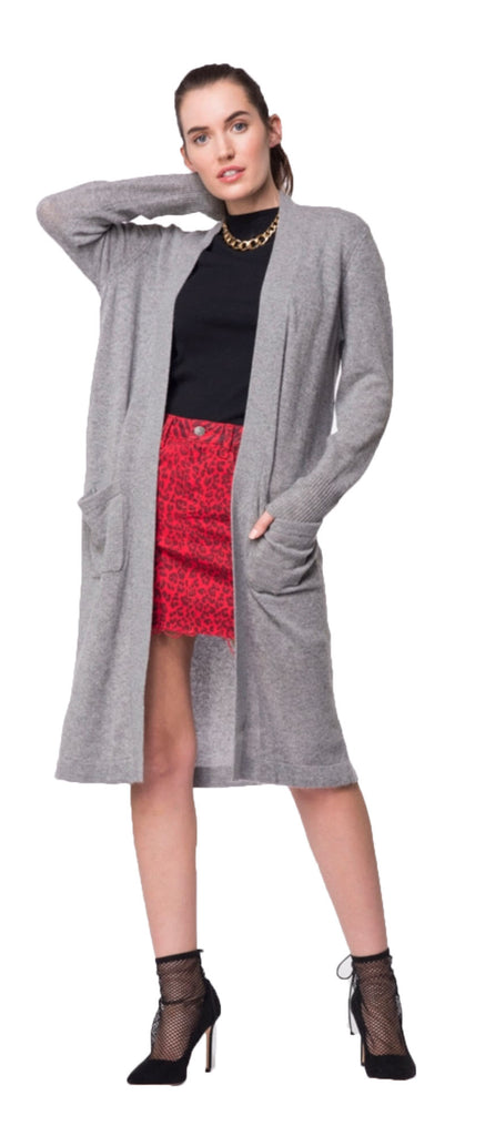 Cashmere Open Cardigan Grey