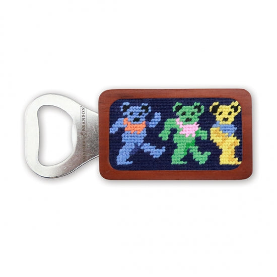 Dancing Bears Needlepoint Bottle Opener