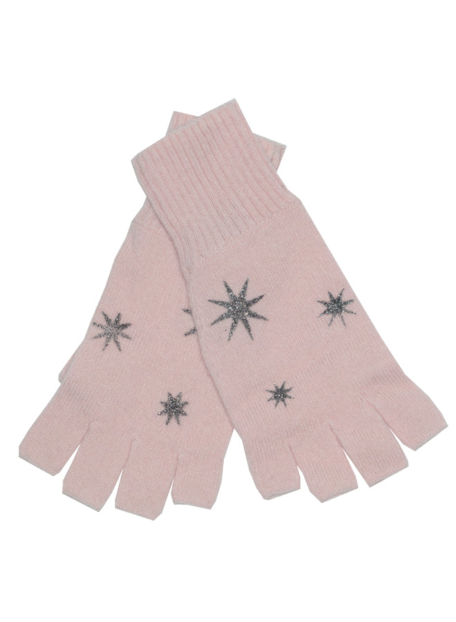 Starburst Fingerless Gloves Blush