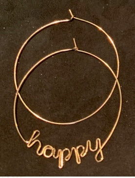 'Happy' Wire-wrap Hoops