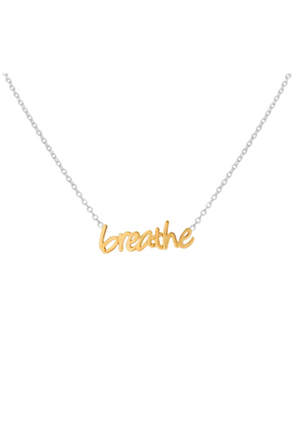 Necklace Gold/Silver Breathe