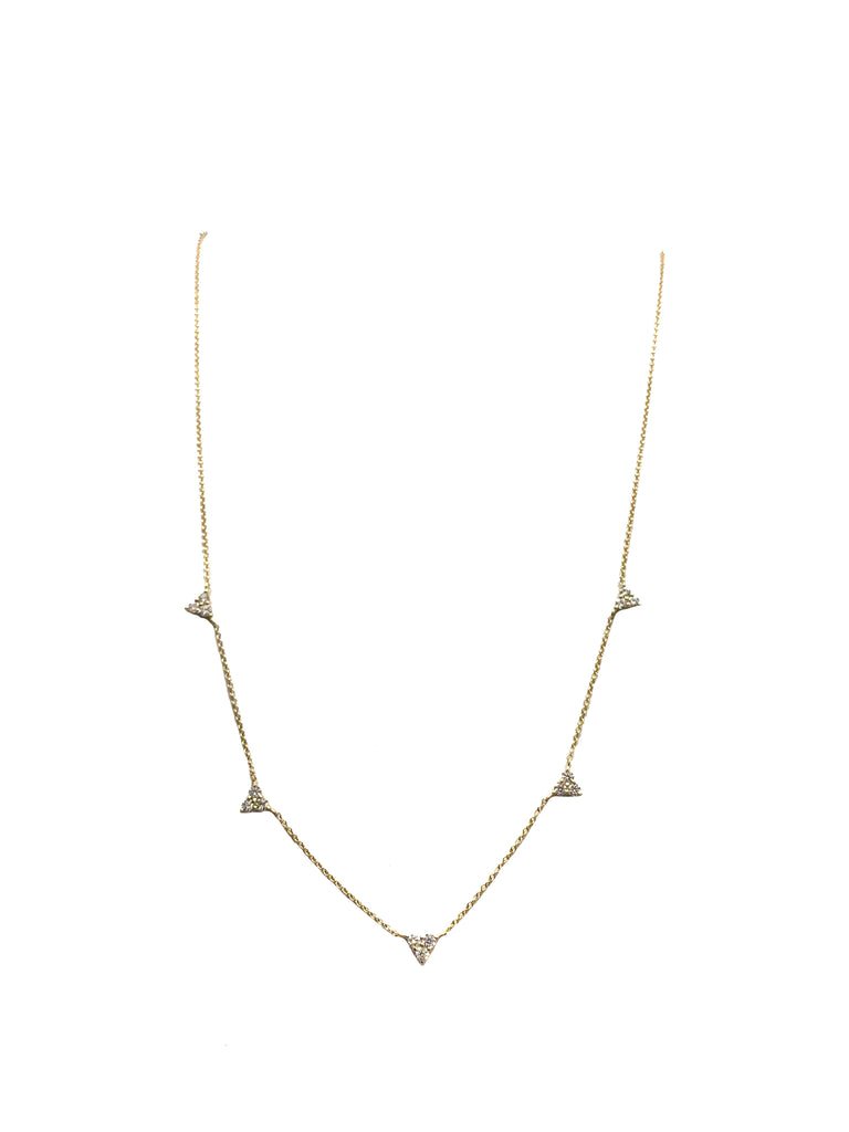 Diamond Stations 5-point Necklace