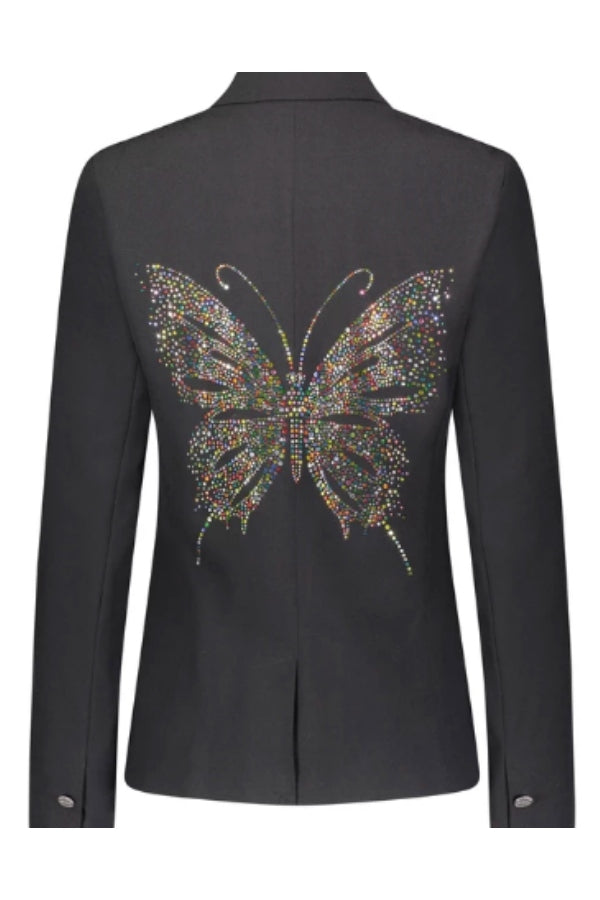 Crystal Multicolor Butterfly Blazer
