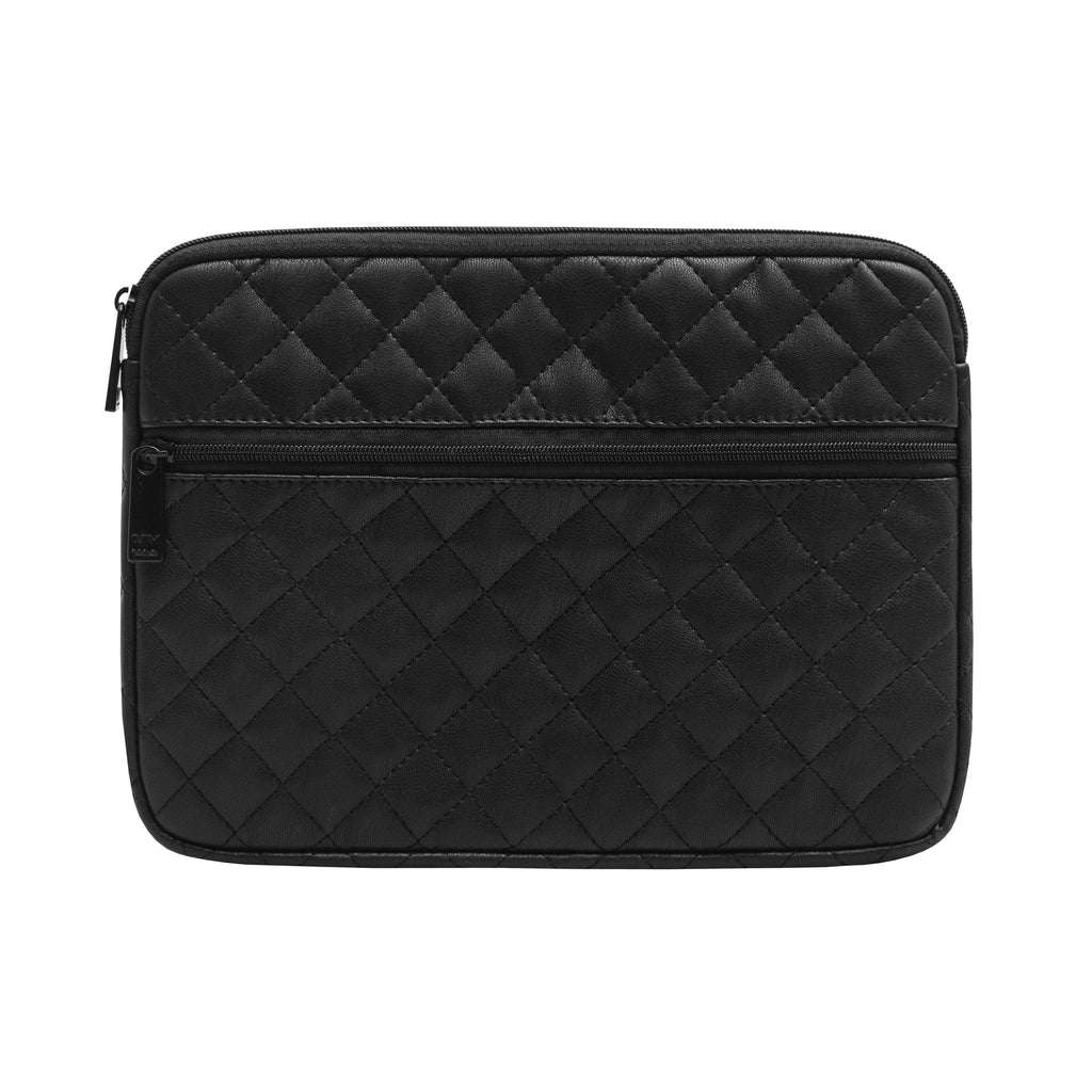 Black Quilted Tech Organizing Pouch