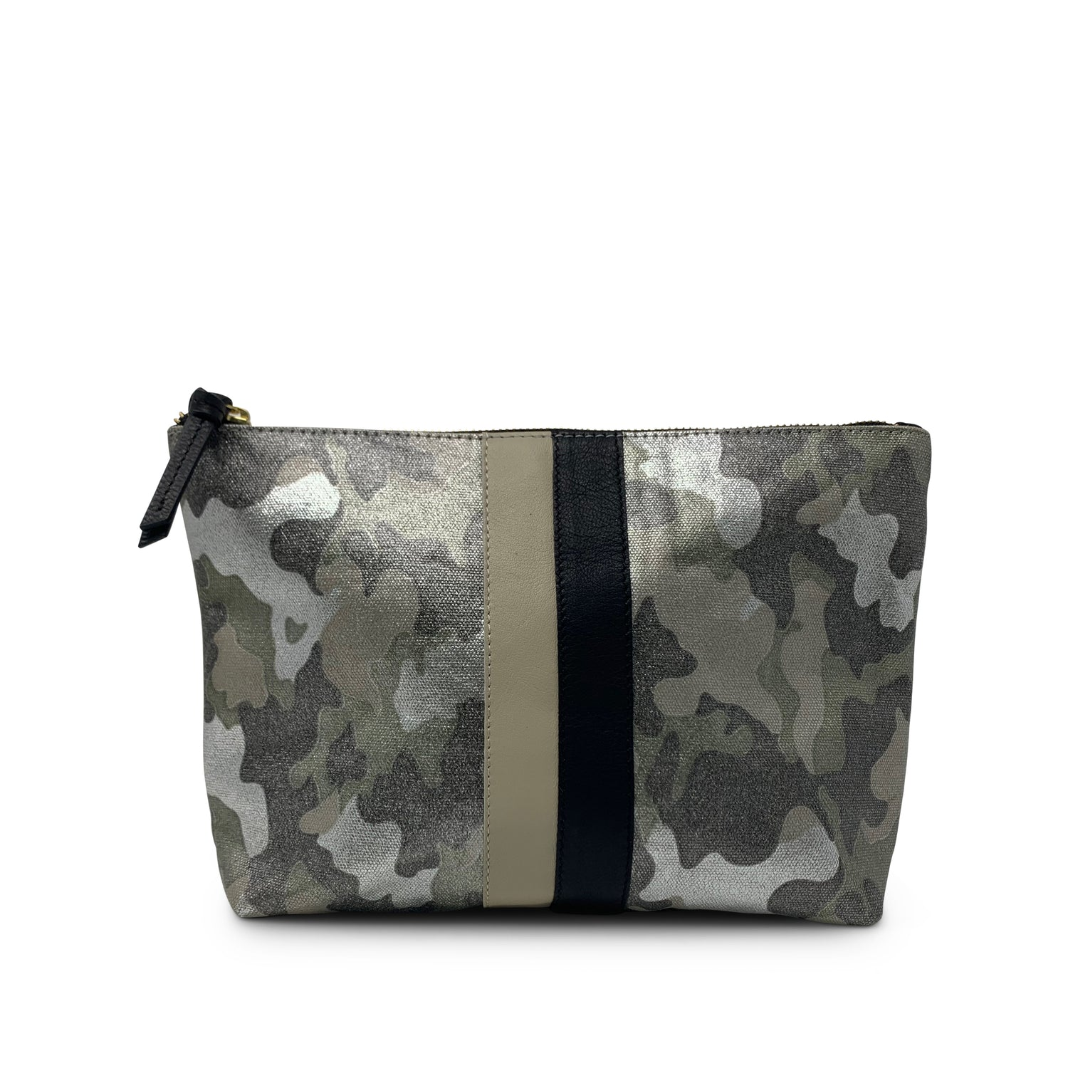 Metallic Camouflage Canvas Pouch/Clutch