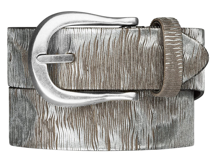 B.Belt Laser Metallic Silver Belt