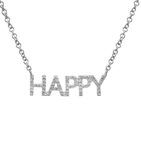 Diamond 'Happy' Necklace