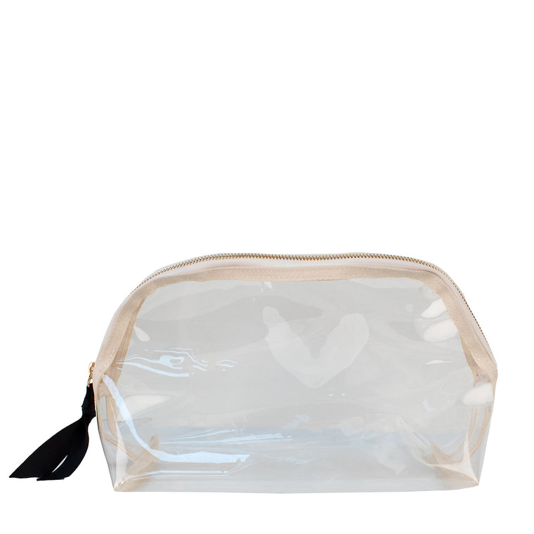 Boulevard Large Rounded Clear Pouch w/ Monogramming