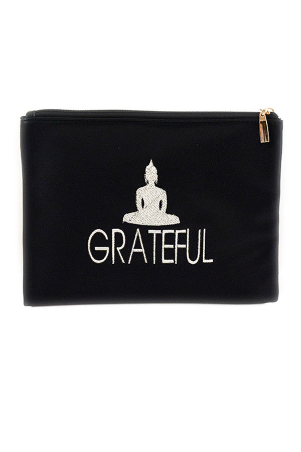Black 'Grateful' Pouch