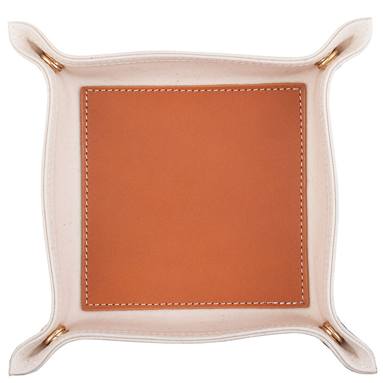Boulevard Tan Canvas & Leather Valet w/ Monogramming