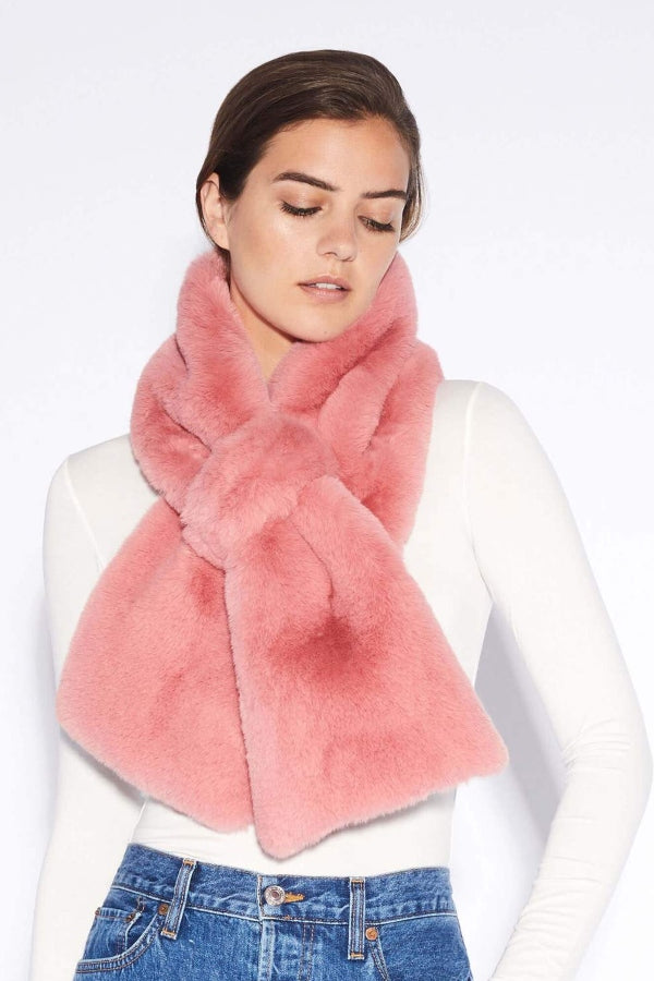 Rose Faux Fur Pull Through Scarf