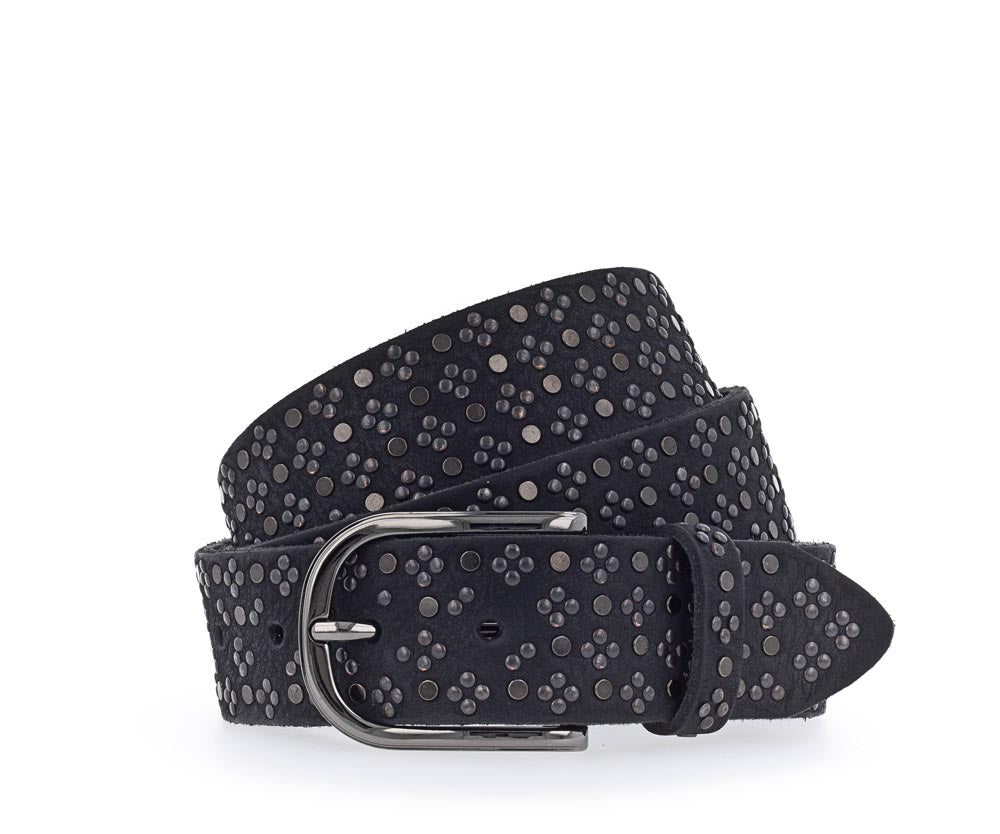 Black Gunmetal Studded Belt
