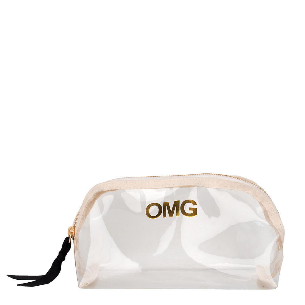 Boulevard Medium Rounded Clear Pouch w/ Monogramming