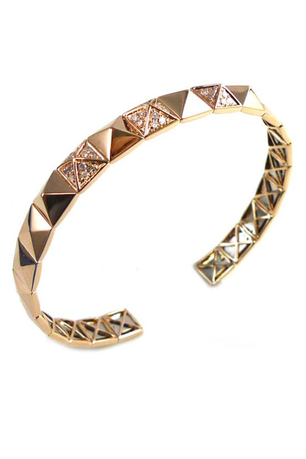 Diamond Studed Open Bangle