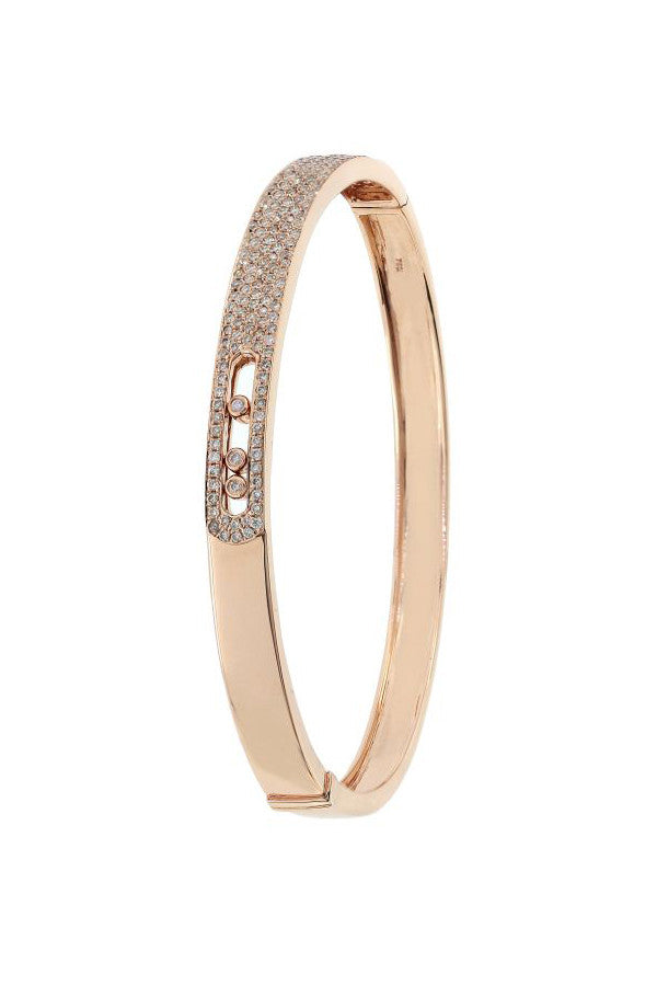 Diamond Open Buckle Bangle