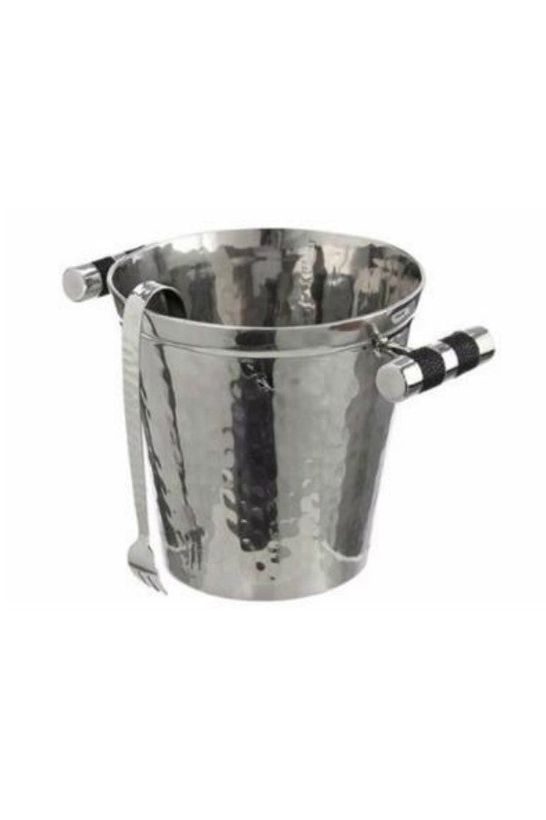Stainless Steel & Shagreen Ice Bucket