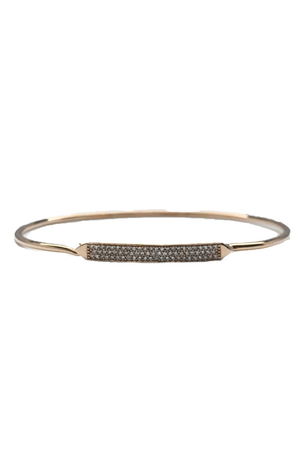 Rose Gold Pave Diamond Bangle