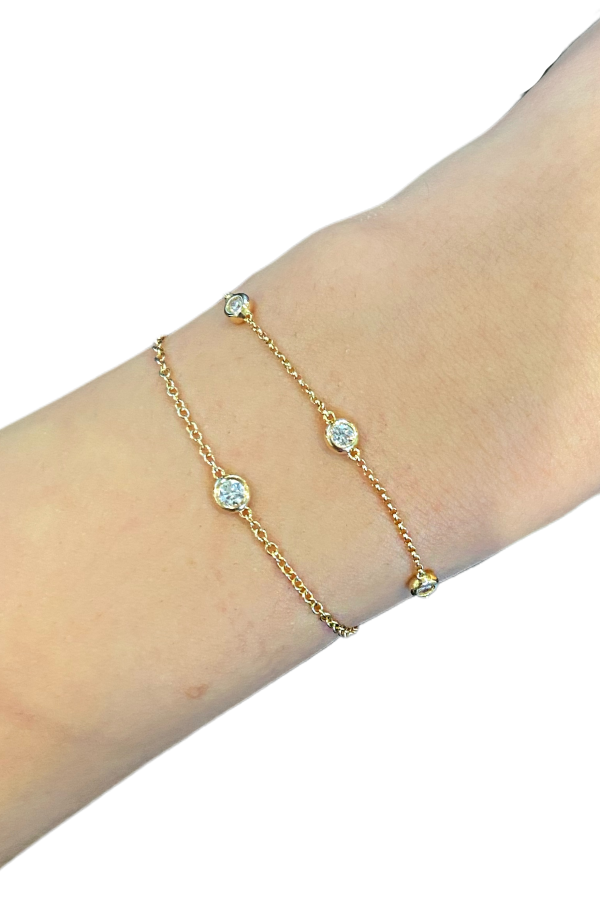 Yellow Gold Diamond Bolo Bracelets