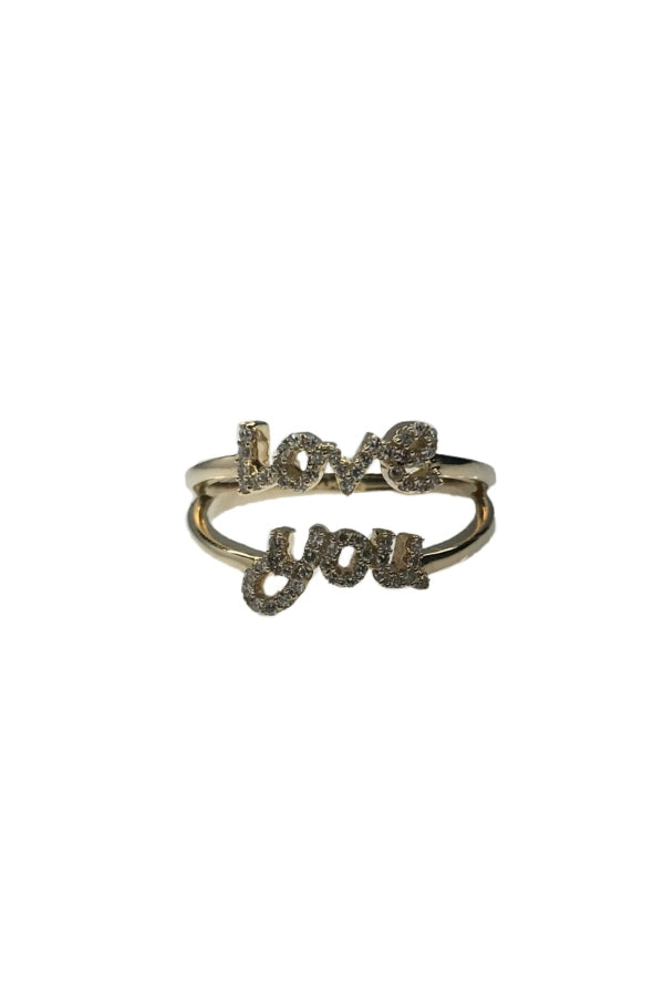 Yellow Gold Love You Ring