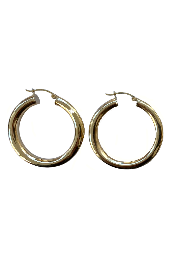 Gold Infinity Hoops (3 Sizes)