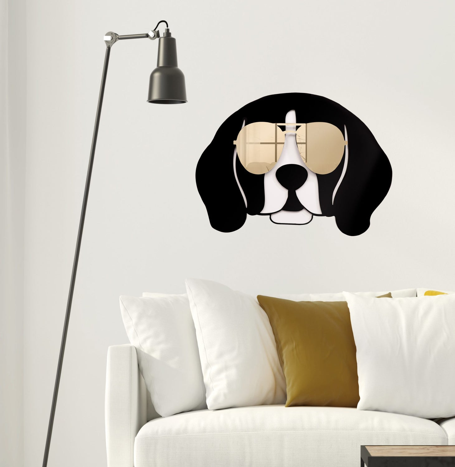 Cool Beagle Wall Sculpture Decor