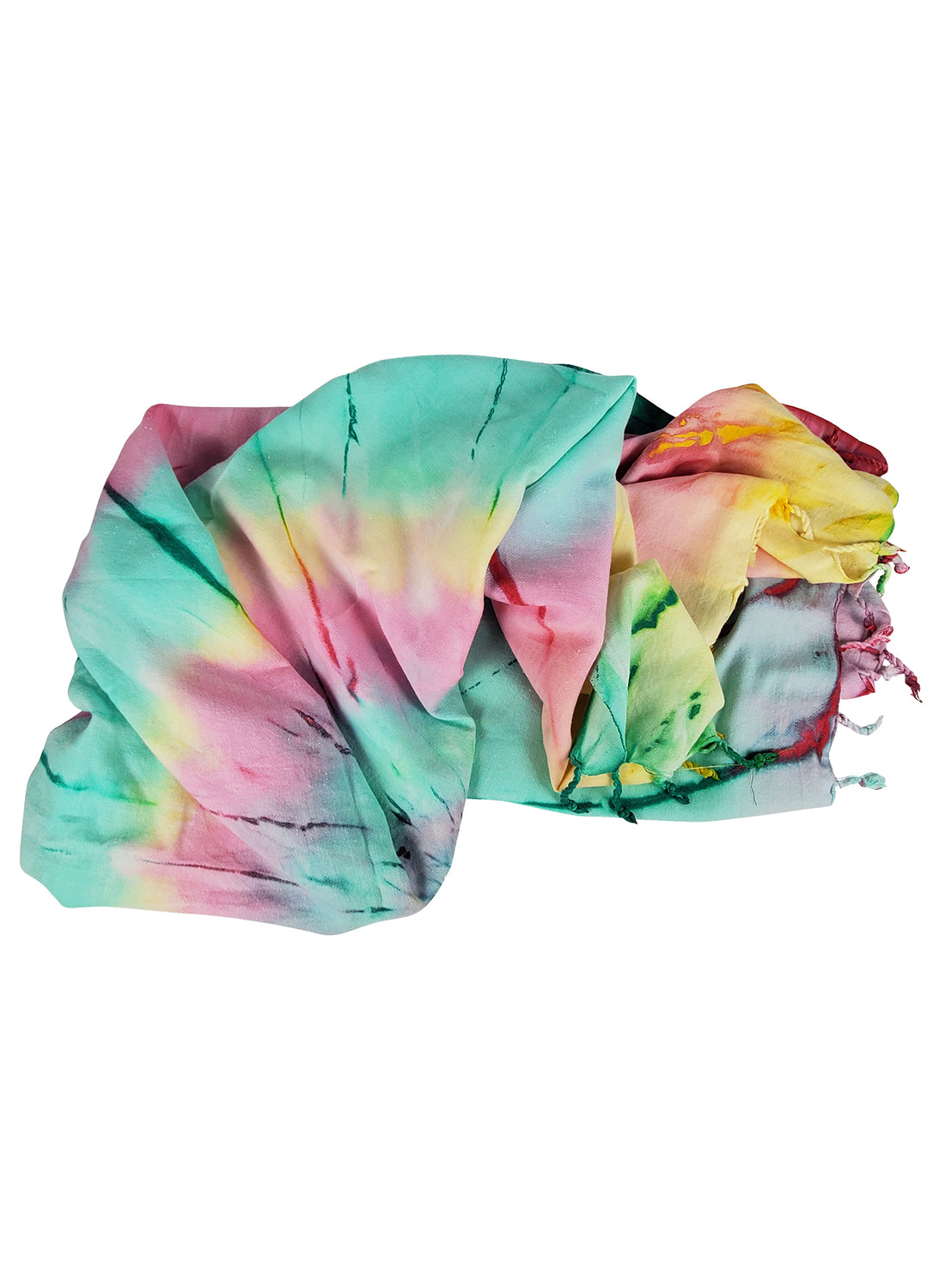 Hat Attack Multi Color Tie Dye Beach Throw