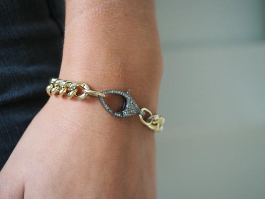 Diamond Clasp Chain Bracelet