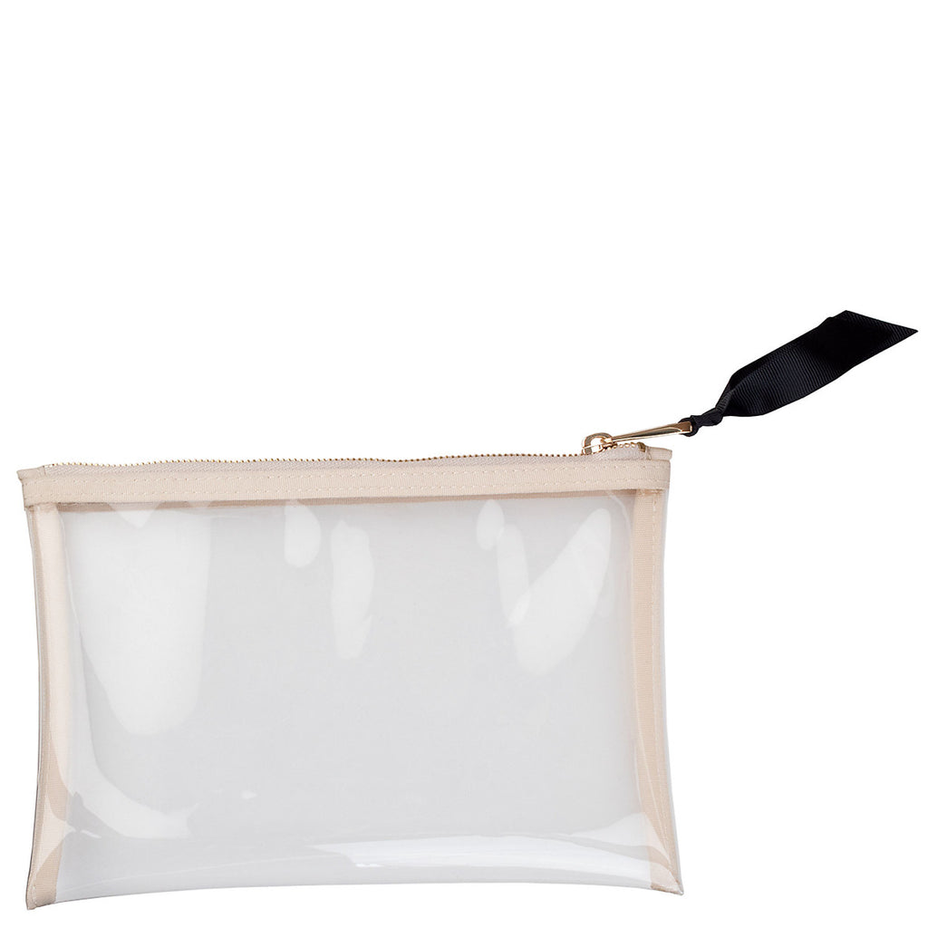 Boulevard Large Square Clear Pouch w/ Monogramming