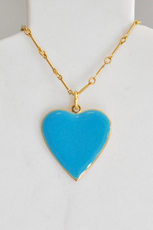 "1.5"" Enamel Heart Pendants"