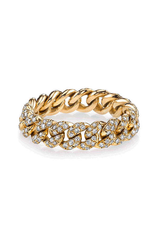 Diamond Links Chain Ring