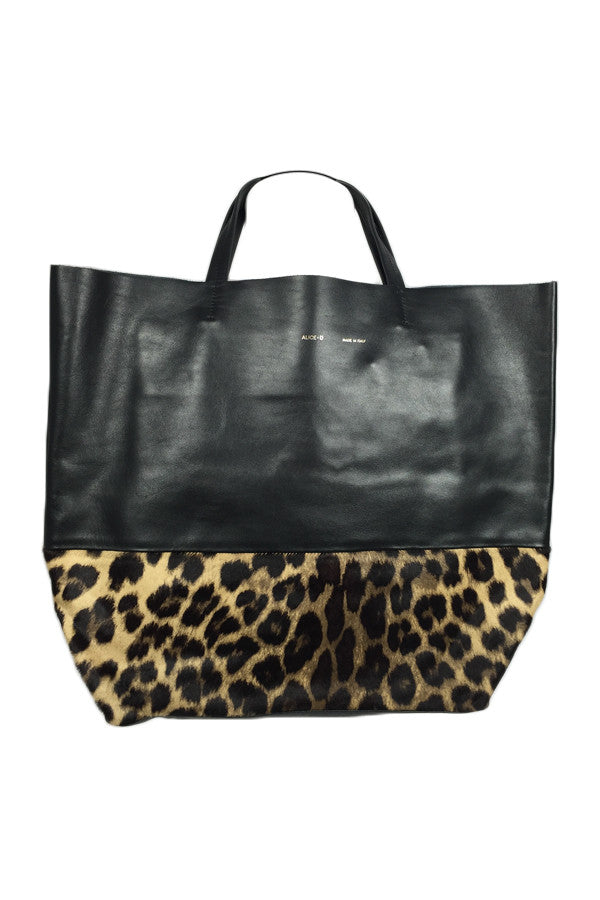 Tote Bag Leather/Leopard